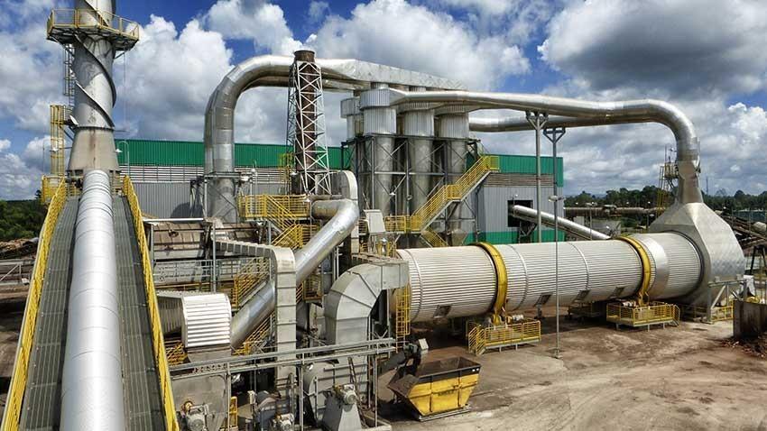 Produção de energia térmica pela queima de biomassa