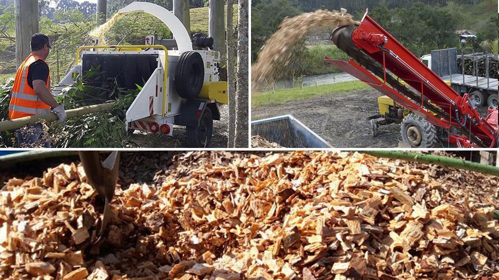 Fragmentação e preparação da biomassa para uso comercial e industrial