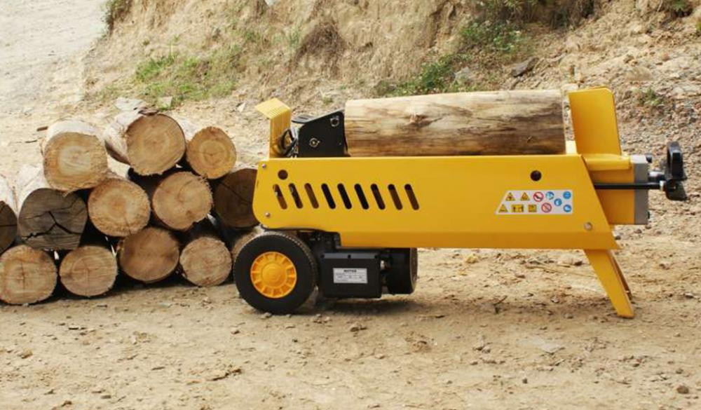 By splitting firewood and logs of large diameter, it is easier to handle for residential, commercial and industrial use.