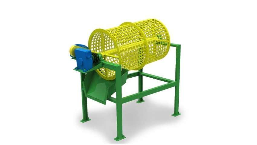 Las tamices rotativas pueden ser construidas en diferentes tamaños, garantizando la perfecta separación de la biomasa, con alta productividad.
