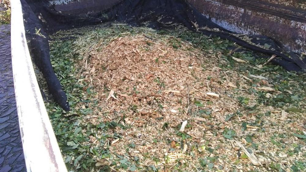 Brush Chipper under test for pruning cleaning in urban streets