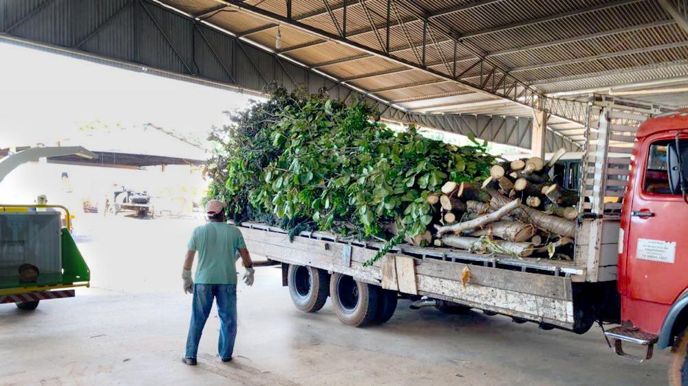 Chipeador de ramas entregada al ayuntamiento para limpieza urbana