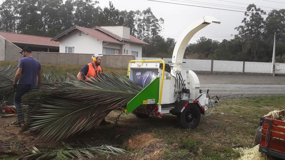 Chipeadora de ramas pra la eliminación de residuos verdes urbanos