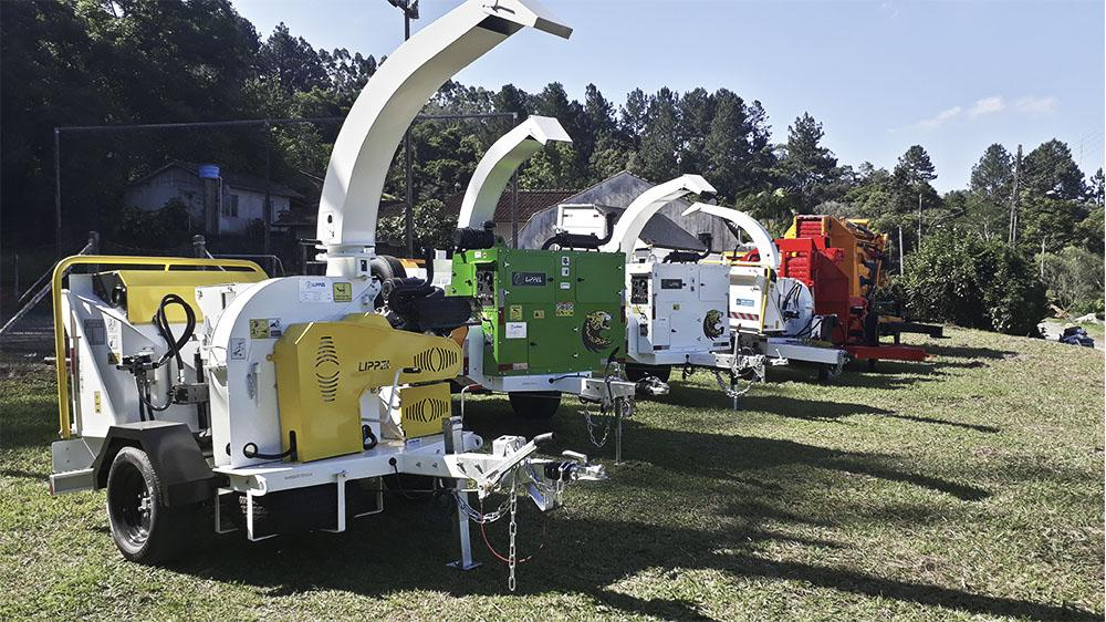 Complete line of wood chippers for urban and forestry use