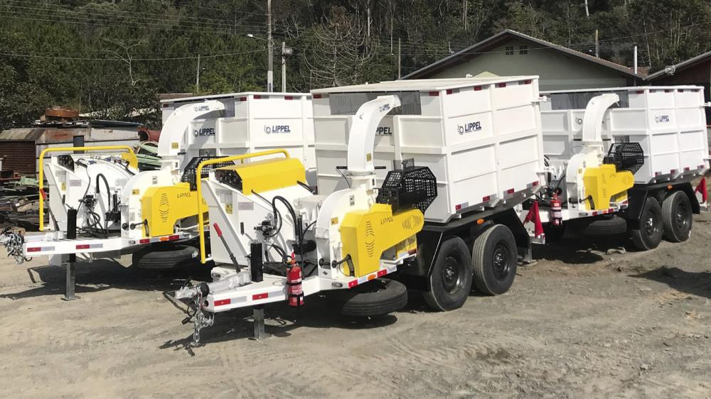 Fleet of Brush Chippers for urban cleaning and composting