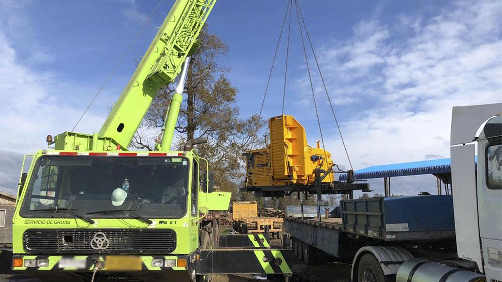 Forestry Chipper delivered to Chile through a local representative