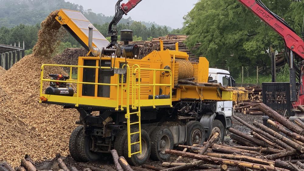 Línea completa de equipos para producción de biomasa
