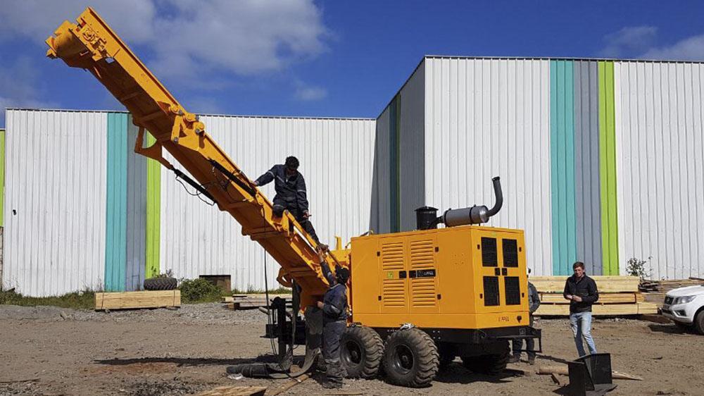 Novo equipamento entregue ao cliente no Chile