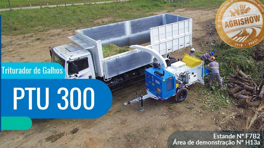 Triturador de Galhos Lippel PTU 300 confirmado na Agrishow 2019