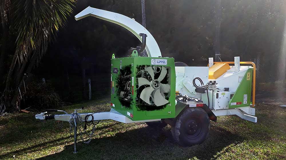 Trituradores de galhos com nova geração de motores de alta tecnologia