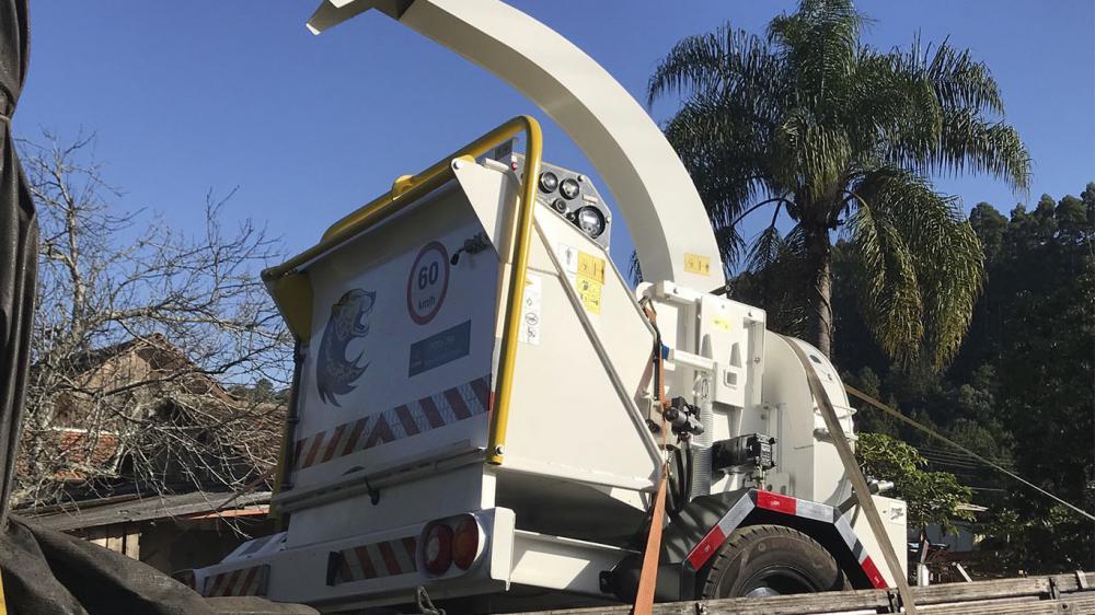 Una empresa agrícola de Chile adquiere una chipeadora de ramas Lippel para el compostaje