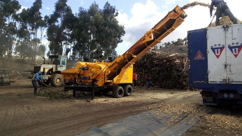 Chipeadora Forestal entregado a cliente en Ecuador