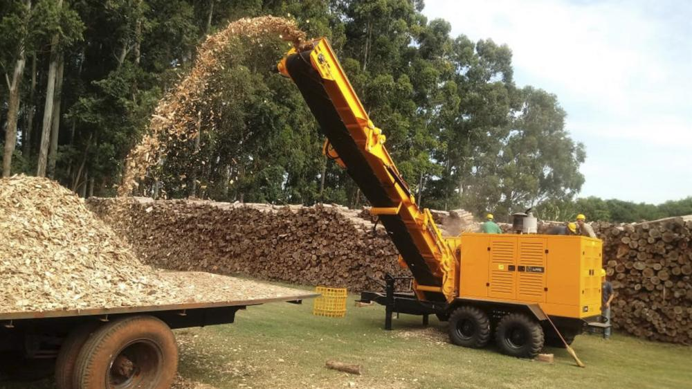 Delivery of Forestry Chipper in a cooperative in Paraguay