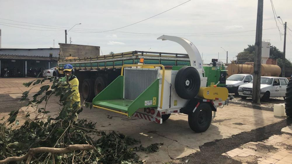 Delivery of urban Brush Chipper for urban cleaning and organic composting in Goiás - Brazil