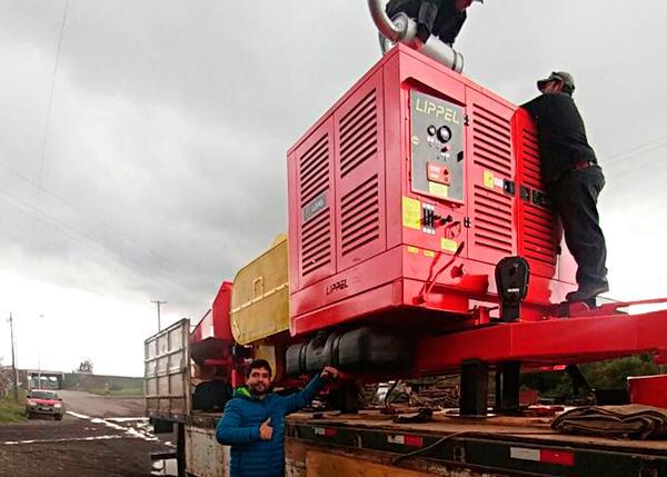 Equipamento Lippel Chega as instalações do cliente no Chile