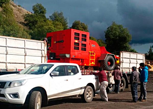 Equipo llega a las instalaciones del cliente en Chile