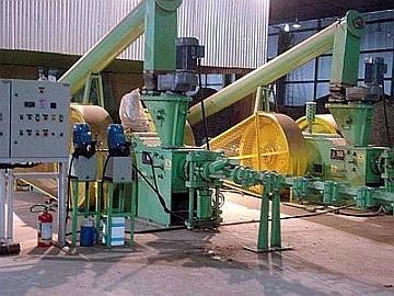 Fábrica de briquetes a partir da fibra de palma e eucaliptos