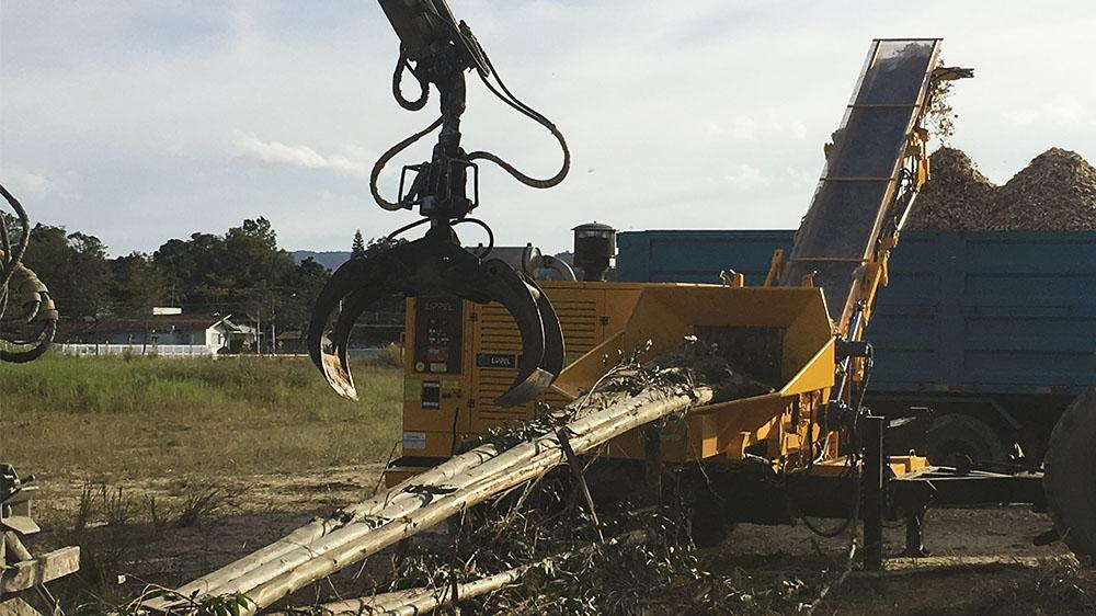 Forestry Wood Chipper acquired for the production of wood chips for industry