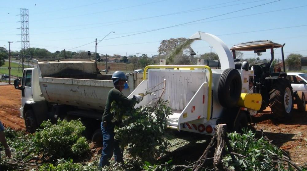 Investment in a wood chipper for urban cleaning in São Paulo