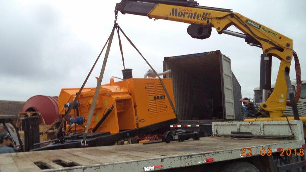 Lippel exports a Forestry Chipper to Peru