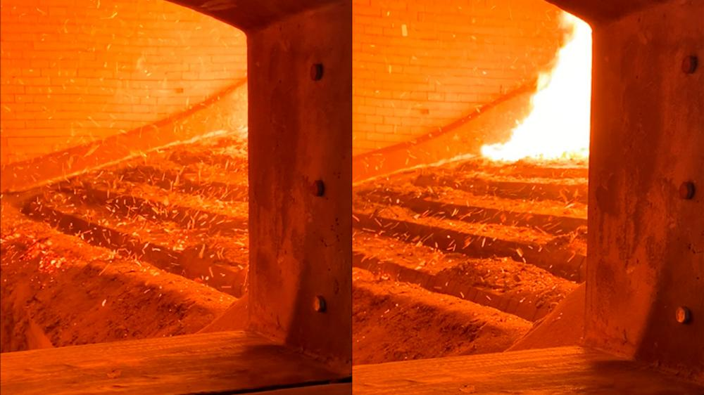 More efficient and economical system for replacing firewood in seeds heat drying
