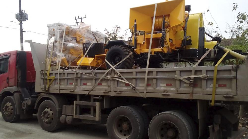 Picador Florestal acionado a trator entregue a cliente no Rio Grande do Sul