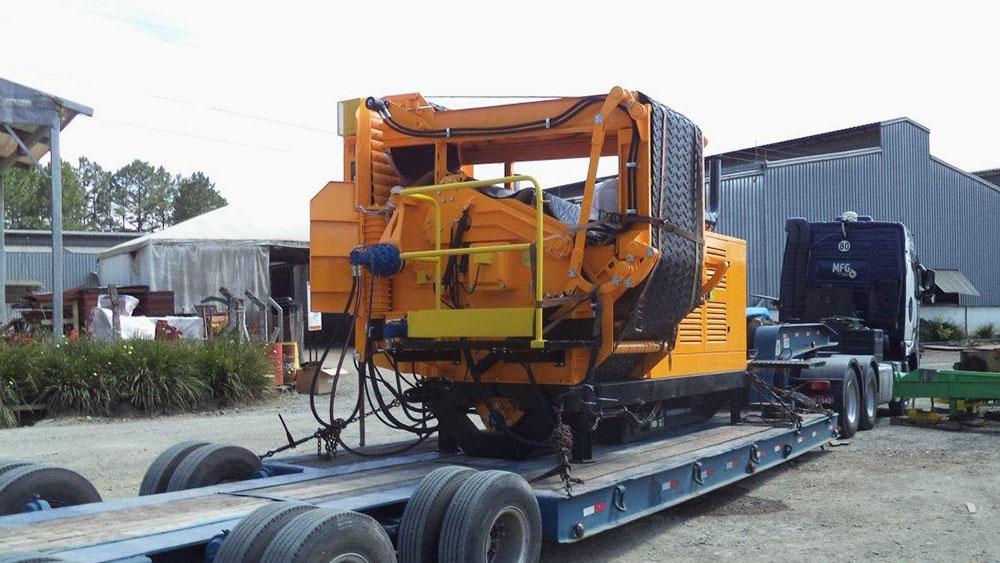 Picador Florestal Dragon 1200 exportado para o Chile