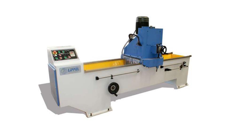 Afiador para facas até 1500mm com fixação magnética, deslocamento automático do cabeçote e refrigeração incorporada