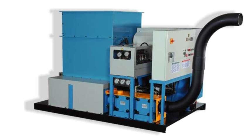 Briquetadora ideal para pequeñas producciones, capacidad para producir briquetas de alta calidad usando diversos tipos de residuos.