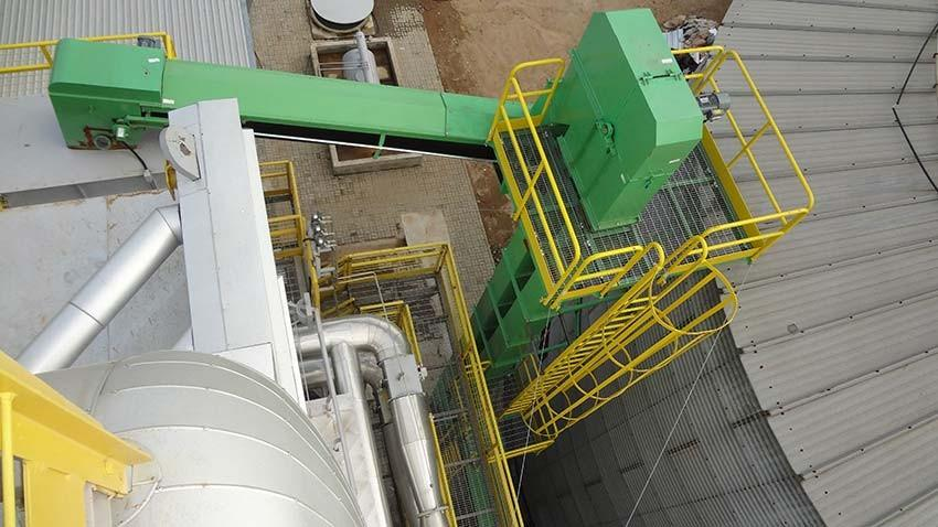 The best way to elevate biomass to heights above 5m.