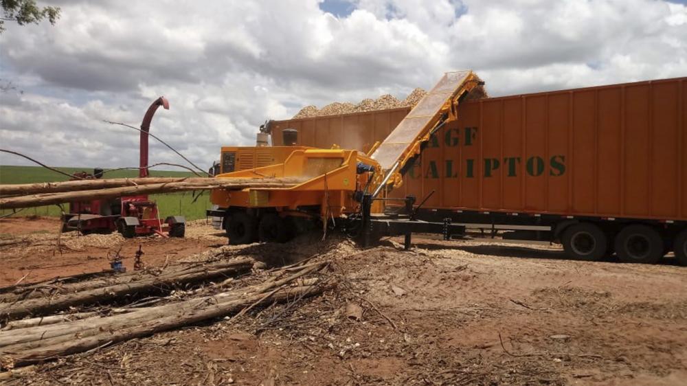 Chipeador de madera forestal de alta productividad e agilidad