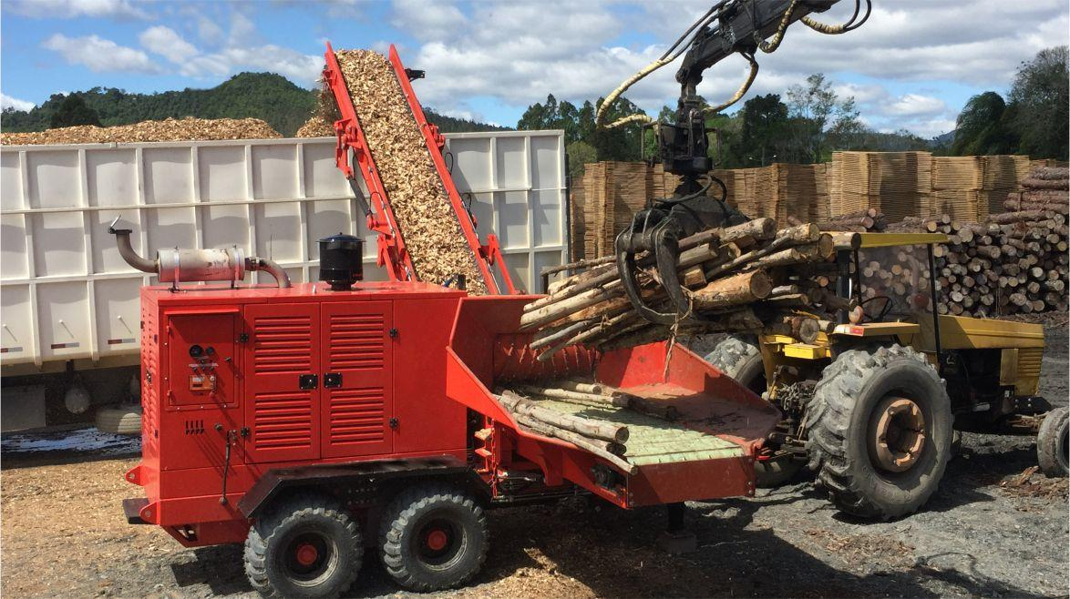 Solution for the modern processing of wood chopping
