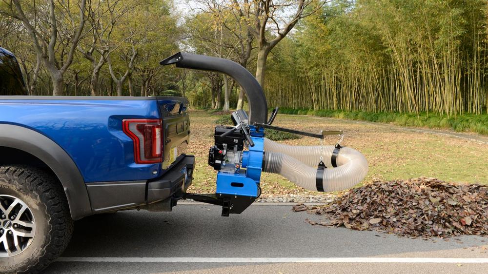 Mounted over truck. Ideal for cleaning on urban streets, farms, parks, condonminiuns and companies