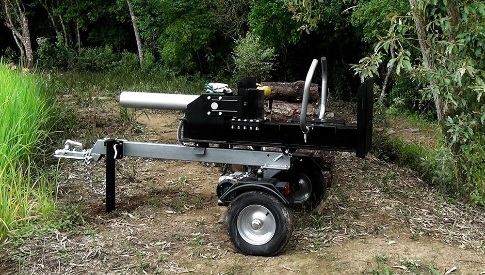 22 Tons of power to crack logs.