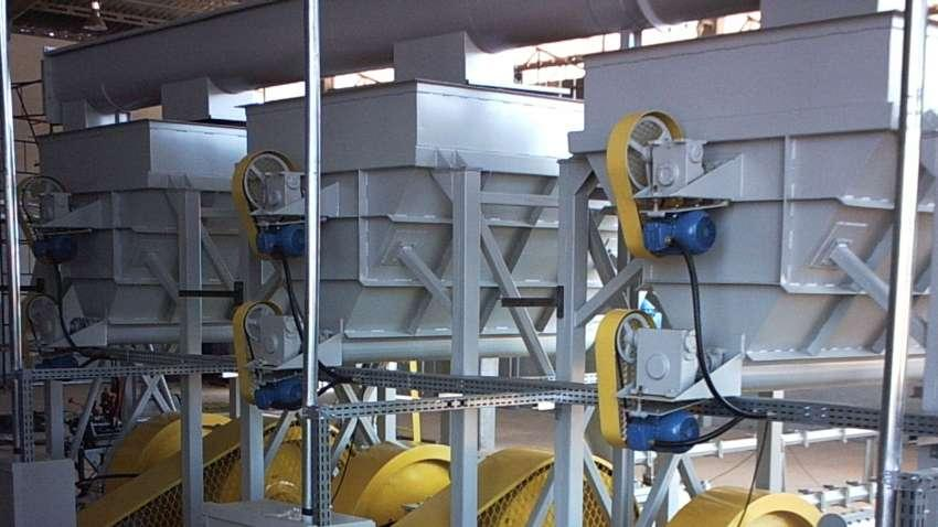 For reception, temporary storage, expedition of grain and biomass extraction