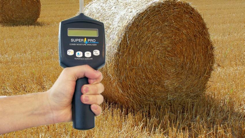EL medidor de humedad permite medir inmediatamente la humedad de heno, forraje y paja, midiendo le contenido medio de humedad y la temperatura de los fardos.