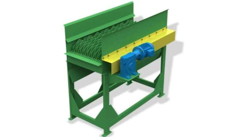 Separação feita através de discos trapezoidais vibrando os resíduos e separando os rejeitos. Produção média de classificação de biomassa de 15m³/h.