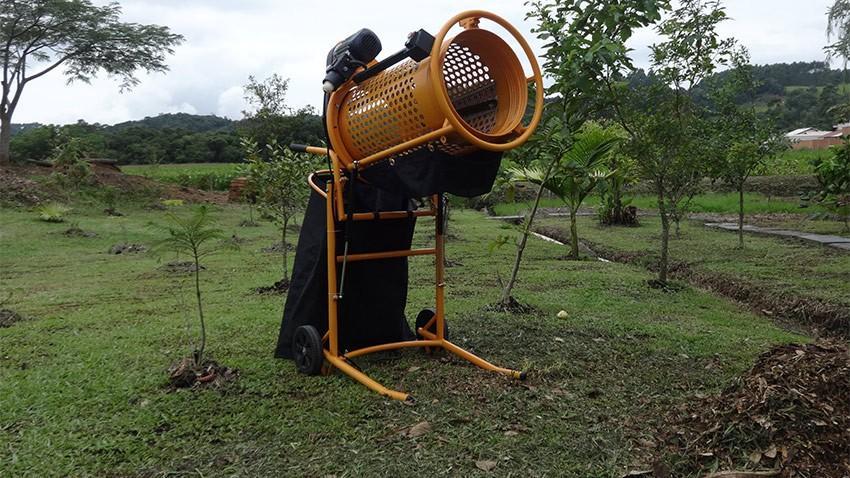 Peneira rotativa móvel para classificação de areia, pedras, resíduos para compostagem