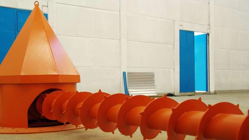 Rosca Extratora de Biomassa para Silos de Armazenagem