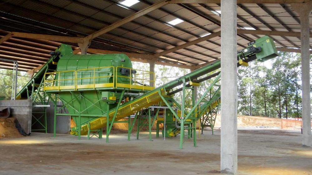 La separación correcta es posible para la utilización del material orgánico para el compostaje.