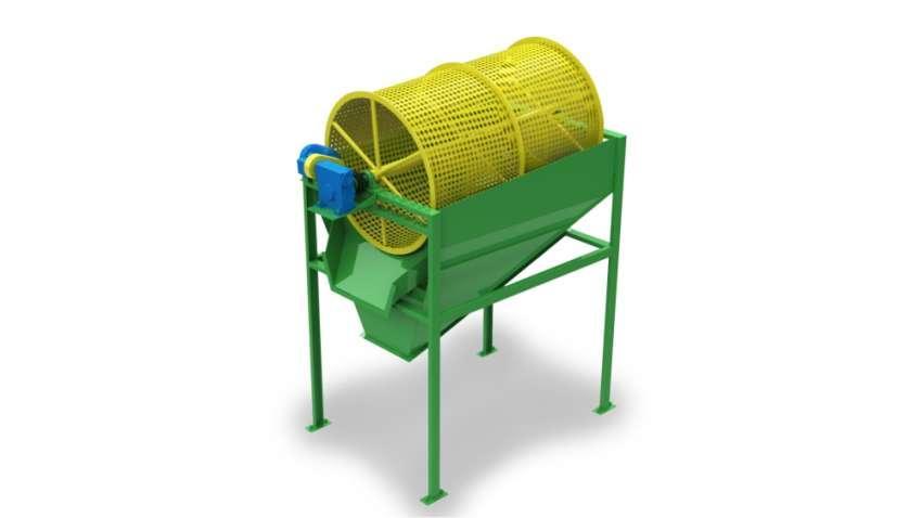 El CRL 950 x 1500 clasifica los residuos no deseados de los chips, manteniendo apenas los residuos de calidad. Producción hasta 8m³/h.