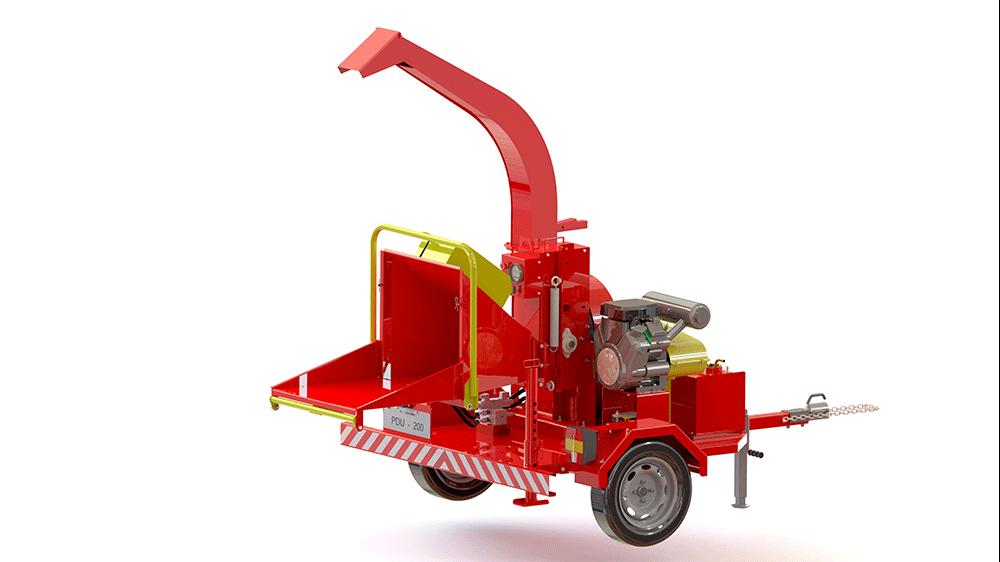 Picador de galhos compacto e eficiente, com acionamento por motor próprio a gasolina