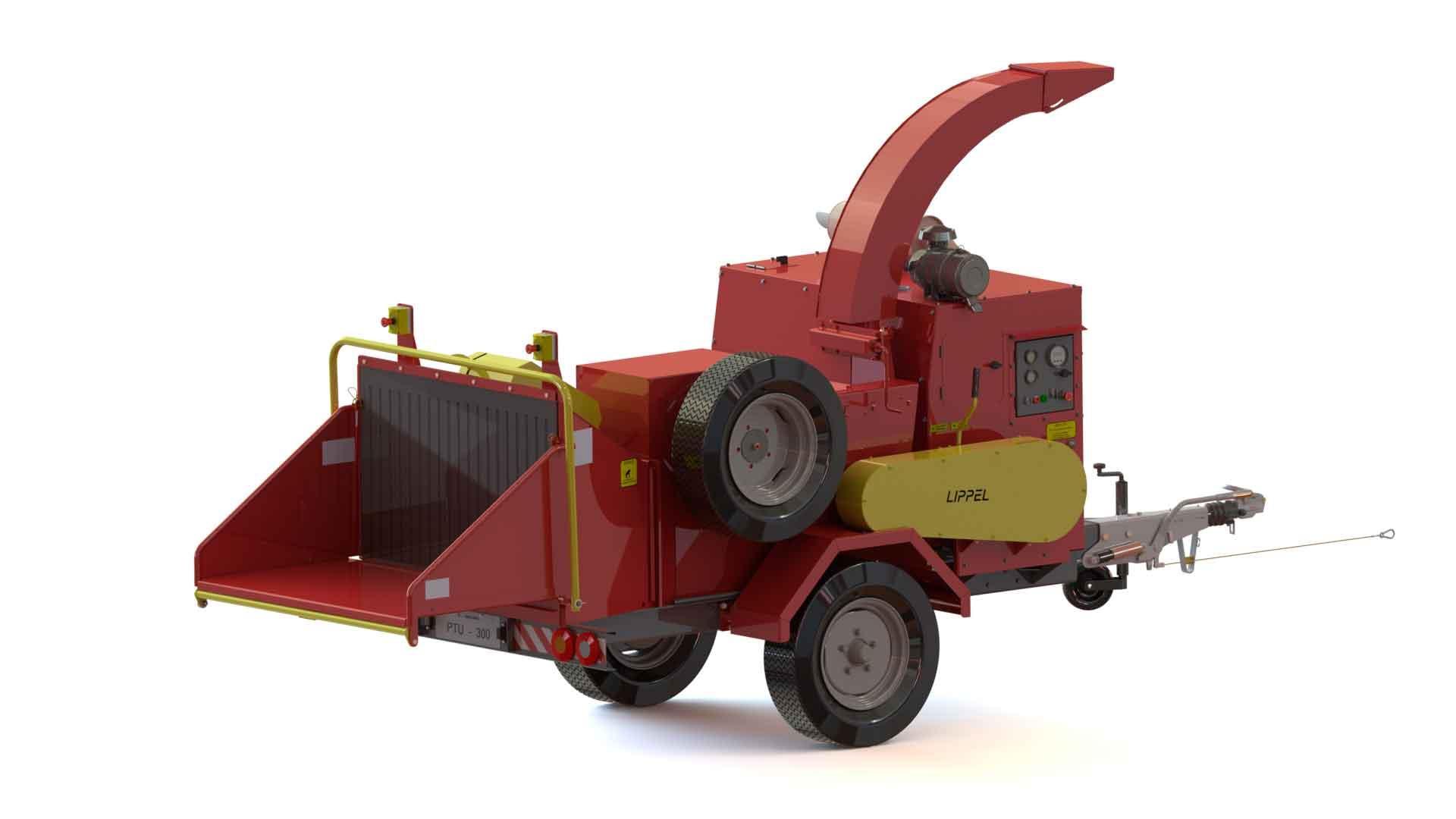 Picador / Triturador de Galhos PTU 350E ideial para picagem de galhadas, troncos e arbustos.