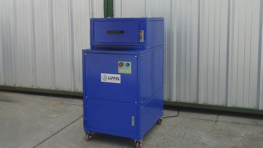 Compact Glass Shredder TVL 100 with closed operation