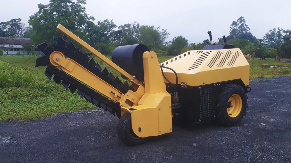 Valetadeira para escavação do solo com profundidades de até 1000 mm de sistema autopropelido