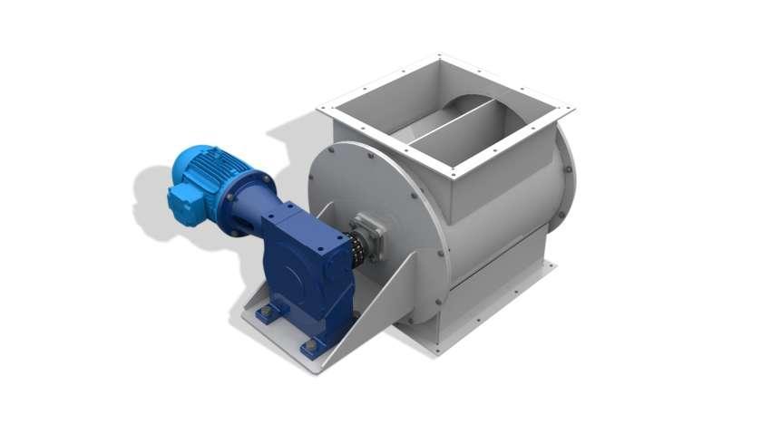 Equipamento desenvolvido para transferência de materiais particulados ou biomassa, em processos com exigência de restrição à passagem de ar ou gases.