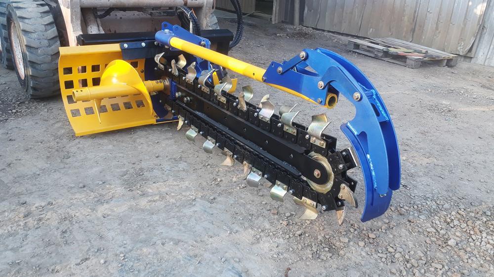Zanjadora de alta velocidad para construcción y cableado y sistemas de riego.