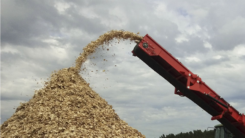 Alta produción de chips de madera