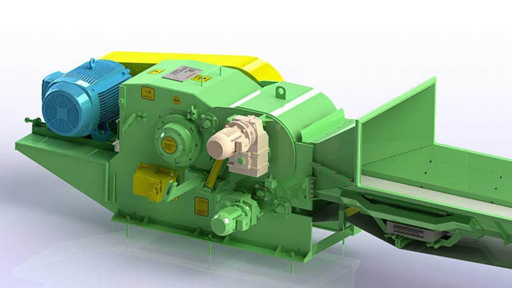 astilladora de madera fija con rodillo de tracción PTL 240/320 x 600