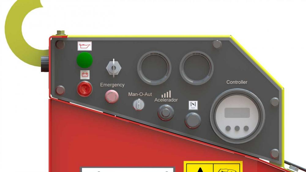 Automatically controls the rate of rotation of the motor in relation to the power supply of the equipment.
